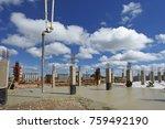 industrial building  foundation ... | Shutterstock . vector #759492190