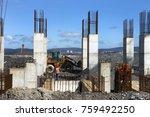 industrial building  foundation ... | Shutterstock . vector #759492250