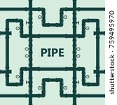 pipe fittings vector icons set. ... | Shutterstock .eps vector #759495970