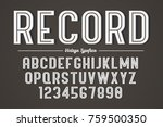 vector decorative bold font... | Shutterstock .eps vector #759500350