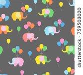 seamless background  pattern.... | Shutterstock .eps vector #759503020