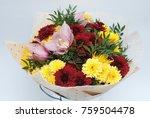 autumn bouquet with... | Shutterstock . vector #759504478