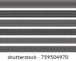 set of six vector traces of... | Shutterstock .eps vector #759504970