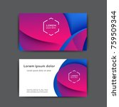 business card design with... | Shutterstock .eps vector #759509344