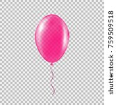 transparent pink helium balloon.... | Shutterstock .eps vector #759509518