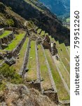 Small photo of Agricultural terraces of Inca ruins of Ollantaytambo, Sacred Valley of Incas, Peru