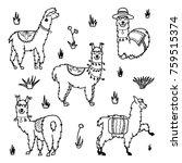 vector set of characters.... | Shutterstock .eps vector #759515374