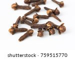 buds of spice cloves closeup on ... | Shutterstock . vector #759515770