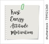 note paper with motivation text ... | Shutterstock .eps vector #759521260