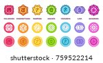 chakra system icon set in... | Shutterstock .eps vector #759522214