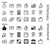 line icons and bold icons. have ... | Shutterstock .eps vector #759525610