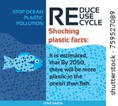 stop plastic pollution reduce ... | Shutterstock .eps vector #759527089