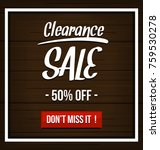 vector clearance sale... | Shutterstock .eps vector #759530278