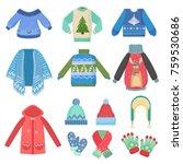 set of christmas design warm...   Shutterstock .eps vector #759530686