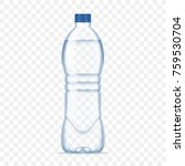 plastic bottle with mineral...   Shutterstock .eps vector #759530704