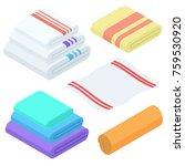 cartoon isometric towels vector ...   Shutterstock .eps vector #759530920