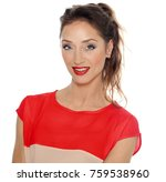 beautiful dreamy woman with...   Shutterstock . vector #759538960