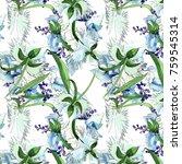 wildflower orchid flower...   Shutterstock . vector #759545314