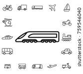 high speed train. linear... | Shutterstock .eps vector #759546040