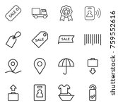 thin line icon set   sale ... | Shutterstock .eps vector #759552616