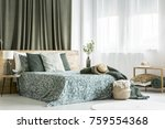 Floral Patterned Bedsheets On...