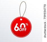60  off. discount or sale price ... | Shutterstock . vector #759554770