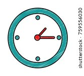 time clock isolated icon | Shutterstock .eps vector #759556030