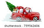 cartoon retro christmas... | Shutterstock .eps vector #759562606