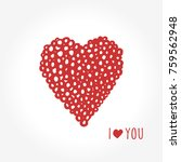 simple valentine day cards.... | Shutterstock .eps vector #759562948