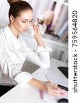 attractive business woman... | Shutterstock . vector #759564820