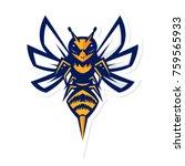 hornet bee mascot logo | Shutterstock .eps vector #759565933