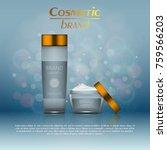 vector 3d cosmetic illustration ... | Shutterstock .eps vector #759566203