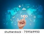 seo. search engine optimization.... | Shutterstock . vector #759569950