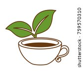 cup with tea leafs | Shutterstock .eps vector #759570310