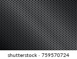 perforated iron background... | Shutterstock .eps vector #759570724