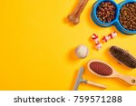 accessories for the grooming of ... | Shutterstock . vector #759571288