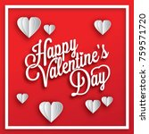valentine design with bubble... | Shutterstock .eps vector #759571720