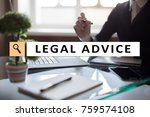 legal advice ext on virtual... | Shutterstock . vector #759574108