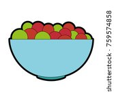 bowl with fresh grapes | Shutterstock .eps vector #759574858