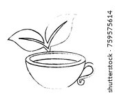 cup with tea leafs | Shutterstock .eps vector #759575614