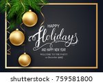 holidays greeting card for... | Shutterstock .eps vector #759581800
