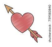 heart love with arrow | Shutterstock .eps vector #759583840