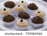 traditional brazilian sweet ... | Shutterstock . vector #759584560