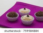 traditional brazilian sweet ... | Shutterstock . vector #759584884