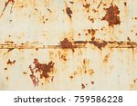 rusty metal background with... | Shutterstock . vector #759586228