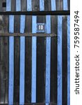 Small photo of Detail of a wooden colored hut in port of Biganos, Gironde, France