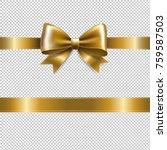 big golden bow  | Shutterstock . vector #759587503