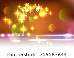 elegant christmas background... | Shutterstock .eps vector #759587644
