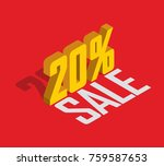 20  percent off  sale  golden... | Shutterstock .eps vector #759587653