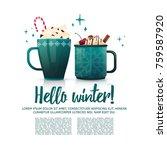 design seasonal banner hello... | Shutterstock .eps vector #759587920